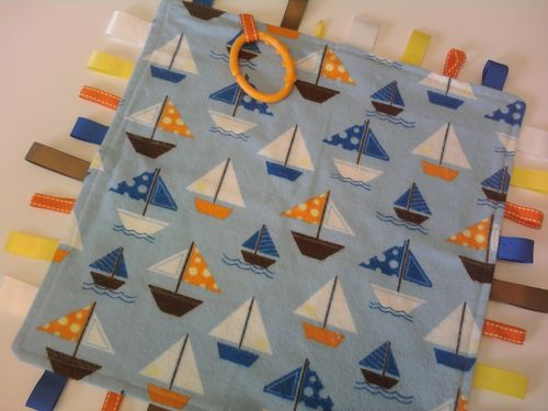 Sailboats of Fun Tag Blanket