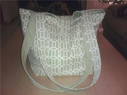 Green Geometrics Diaper bag