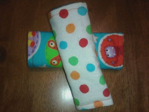 Freindly Monters Carseat Strap Wraps